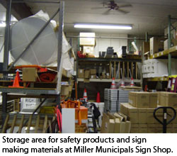 Safety Products Miller Municipal Sign Shop